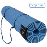 Matmats TPE Camping Yoga Mat Non Slip Double Layers With Adjustable Strap