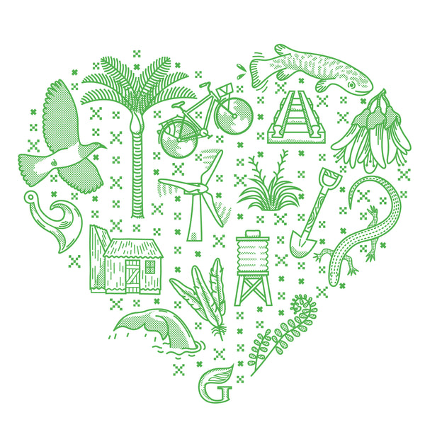 Our new Green heart design