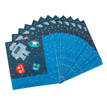 Load image into Gallery viewer, Robot Party Supplies Set - 36 pcs Plates, Cups & Napkins