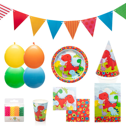 Dinosaur Party Supplies Kit for 12