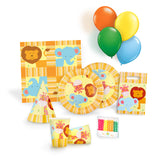 Jungle Animals Birthday Party Kit for 12