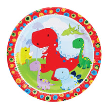 Load image into Gallery viewer, Dinosaur Party Supplies Set - 36 pcs Plates, Cups & Napkins