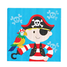 Load image into Gallery viewer, Pirate Party Supplies Set - 36 pcs Plates, Cups & Napkins