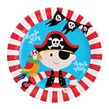 Pirate Party Supplies Set - 72 pcs Plates, Cups & Napkins