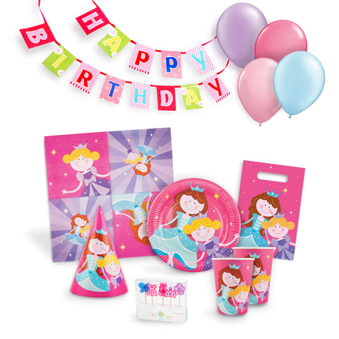 Princess Birthday Party Kit for 12 Serabeena