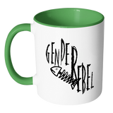 """Gender Rebel - Accent Mug"