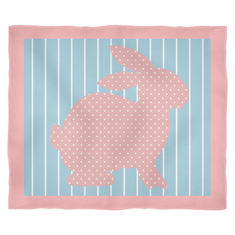 """Uncle Jessie's Bunny"" - Fleece Blanket"