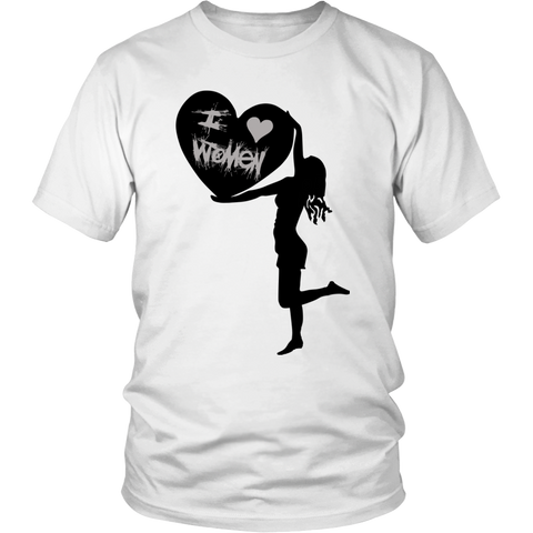 """I Love Women"" (black print) - Unisex Tees sold by GenderUnique."