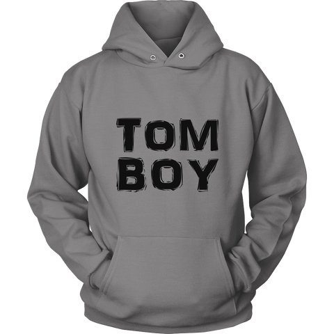 """TomBoy"" (black print) - Pullover Hoodies sold by GenderUnique."