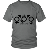 """Love is Love"" (black print) - Unisex Tees sold by GenderUnique."