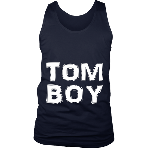 TomBoy - (white print) - Unisex Tanks sold by GenderUnique.