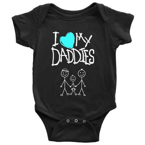 """Daddies Kid Drawing"" (white print) - Baby Onesies sold by GenderUnique."