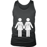 """Les Love"" (white print) - Unisex Tanks sold by GenderUnique."