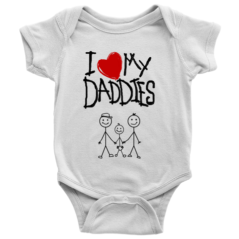 """Daddies Kid Drawing"" (black print) - Baby Onesies sold by GenderUnique."