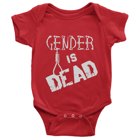 """Gender is Dead"" (white print) - Baby Onesies sold by GenderUnique."