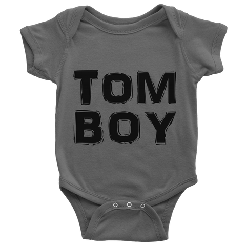 """TomBoy"" (black print) - Baby Onesies sold by GenderUnique."
