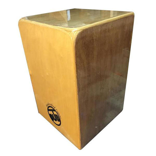 Diagonal Snare Two Tone Cajon - Left Hand side snare chamber