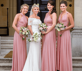 A-line Dusty Rose Convertible Bridesmaid Dresses,Cheap Bridesmaid Dresses,WGY0390