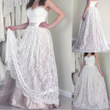 Sweetheart Long A-line Lace Elegant Wedding Party Dresses, BG0144