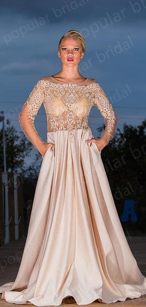 Off-the-Shoulder Ivory Lace Evening Dresses ,Cheap Prom Dresses,PDY0614