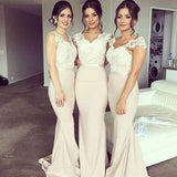 Charming Off Shoulder Sweetheart Lace Sexy Mermaid Impressive Long Wedding Party Dresses, BG0039