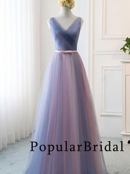 Elegant chiffon  V-neck  ball gown long Prom Dresses, PBH027