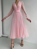 lovely  V-neck ball gown  tea-length Prom Dresses, PBH033