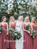 Charming chiffon Long Bridesmaid Dresses, cheap bridesmaid dresses,PBH073