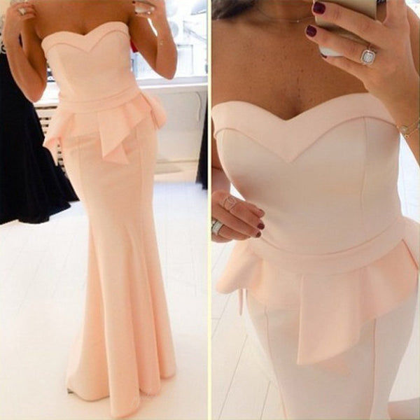 Popular Sweetheart Mermaid Soft Satin Cheap Long Prom Dresses, BG0222