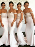 Sexy Off Shoulder Mermaid Long Bridesmaid Dresses Online, WG303