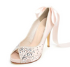 Pink Crystal High Heels Pointed Toe Rhinestone Wedding Bridal Shoes, S025