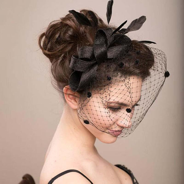 Vintage Inspired Black Lace Wedding Headpiece, Wedding Headpiece, Wedding Accessories, VB0607