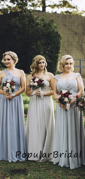A-line chiffon Long Mermaid  Bridesmaid Dresses, cheap bridesmaid dresses,PBH015