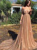 Sexy Backless Spahgetti Straps Halter Long Prom Dresses,Cheap Prom Dresses,PDY0653