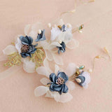 Charming Blue Flowers Wedding Headpiece, Wedding Headpiece, Wedding Accessories, VB0610