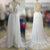 Most Popular Spaghetti Deep V-neck White Chiffon Long A-line Boho Style Wedding Dresses, BG0329
