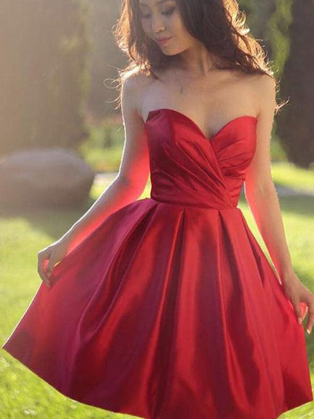 2019 Latest Sweetheart Pleats Nifty Short Robe, Homecoming Dresses, HD108