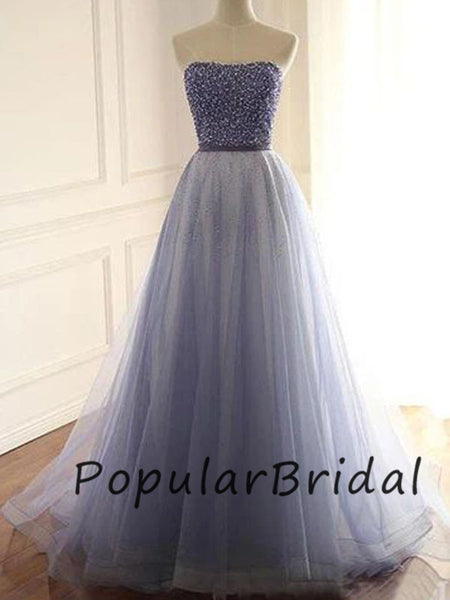 Beautiful a-line sweetheart beaded long prom dresses PL013