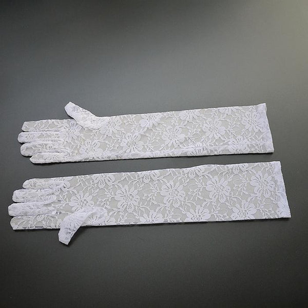 Wedding Gloves, Long Gloves, Wedding Gloves With Handmade Flower, TYP0542