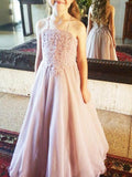 Tube Top Hanging-neck Floral Ball Gown, Backless Gorgeous Flower Girl Dresses , EME070