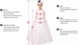 Round-neck Lace Top Zipper Closure Tulle Ball Gown With Trailing, Applique and Bow, Flower Girl Dresses , TYP0273