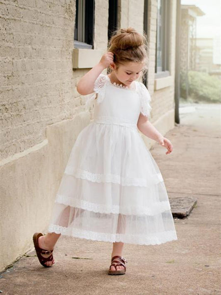 Lovely Square-neck Princess Ball Gown for Pegeant, Flower Girl Dresses , TYP0308