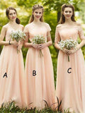 Jewel Off-shoulder Sweetheart Sleeveless Short-sleeve Half-sleeve Chiffon Elegant Affordable Bridesmaid Dresses,WGY0404