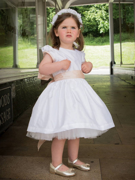 Lovely High-neck Ball Gown with Sash, Flower Girl Dresses with Big Bow , TYP0306
