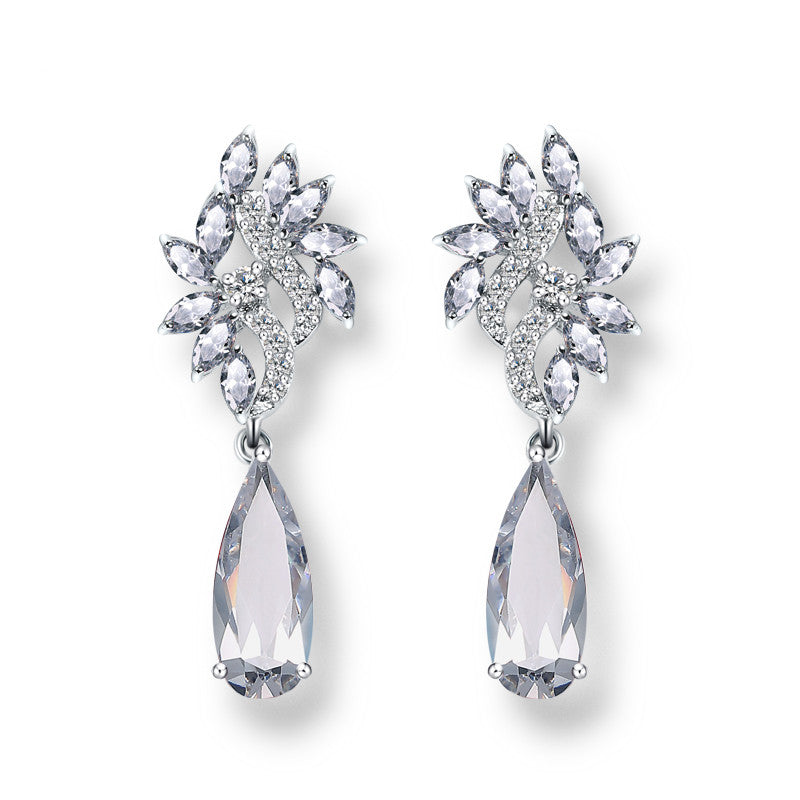 New Arrival Marquise Cubic Zirconia Dangle Earrings  Noble Jewelry For Women Party