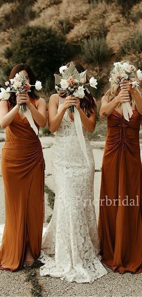 Charming A-line Sleeveless Long Bridesmaid Dresses.PB1086