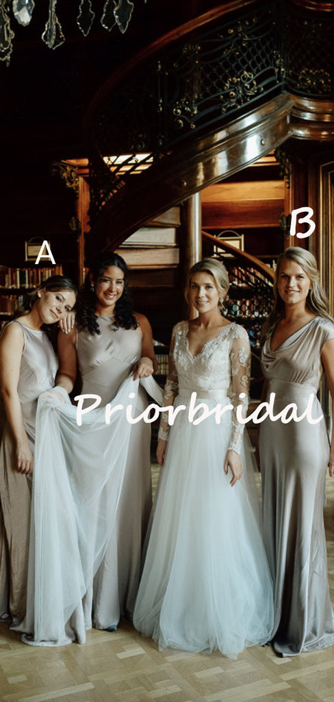 Sexy Simple Round Neck Mermaid Evening Dresses Bridesmaid Dresses.PB1240