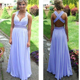 Long Chiffon Simple Elegant For Teens Cheap Unique Prom Dresses. RG052