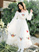 Beautiful Straight Chiffon Long Sleeve A-line Long Wedding Dresses.PB1150