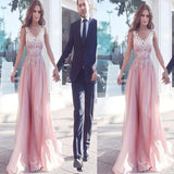 New Arrival Pink With Appliques Classy Charming Cocktail Evening Prom Dresses Online,RG0117